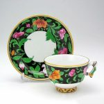 Teacup and Saucer, mandarin handle - Kang Hee