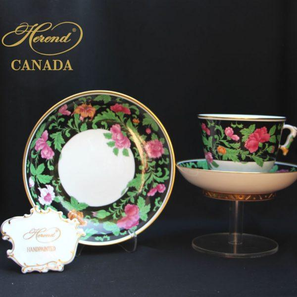 Teacup and Saucer, mandarin handle - Kang Hee