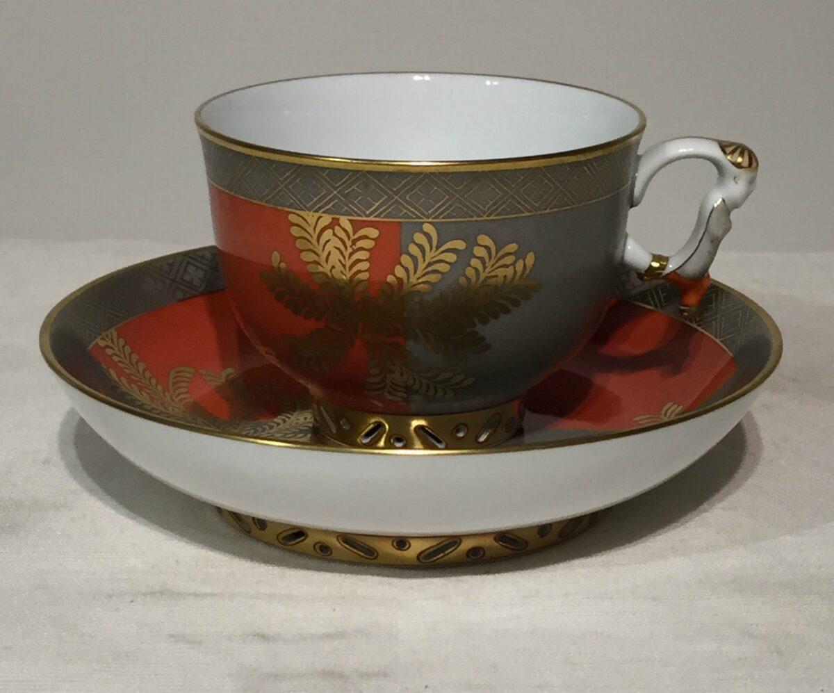 Teacup and Saucer, mandarin handle - Kang Hee FUG Masterpiece