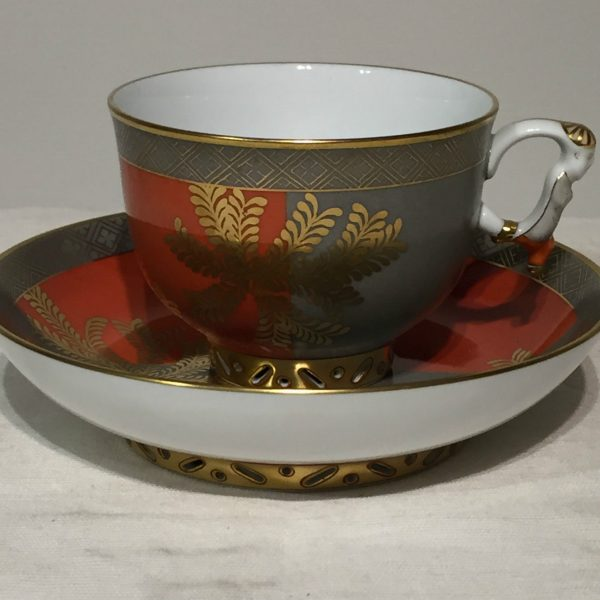 Teacup and Saucer, mandarin handle - Kang Hee FUG Masterpiece