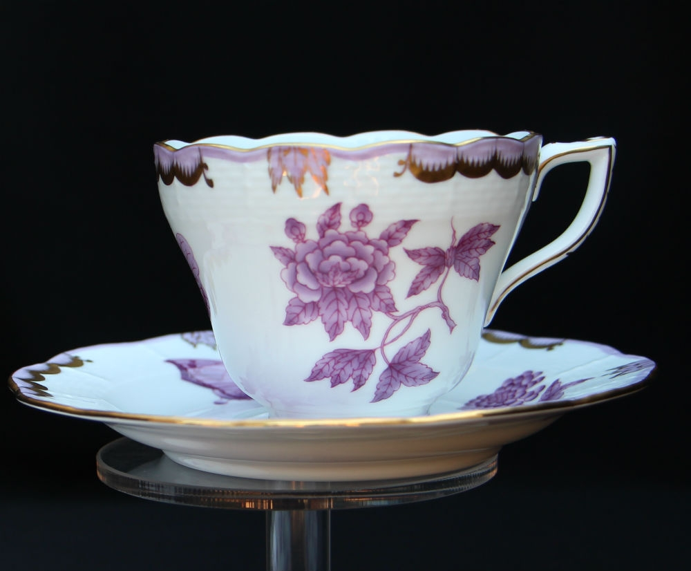 Teacup and Saucer - Queen Victoria Purple
