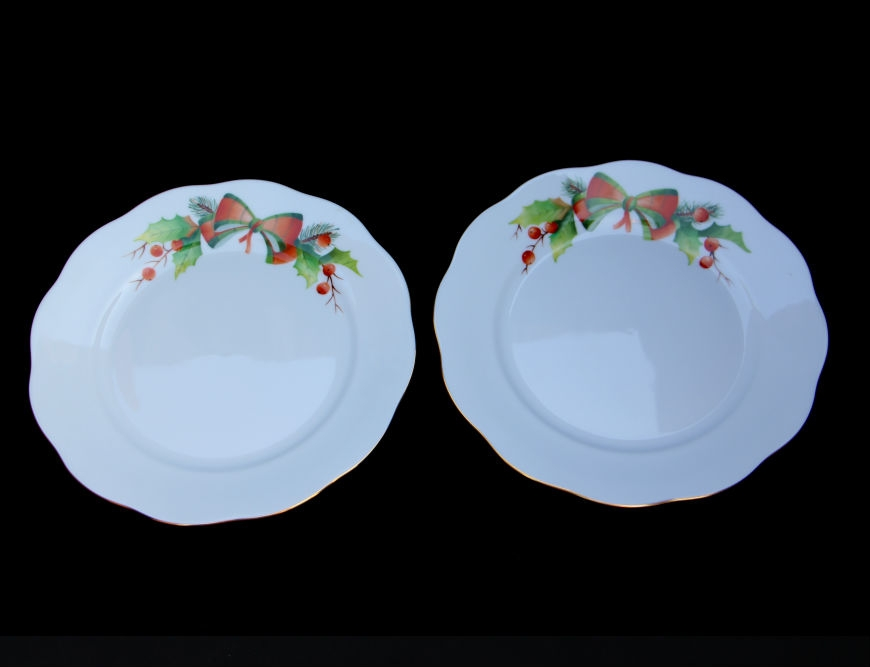 Dessert Plate Set for 2 - Christmas Edition