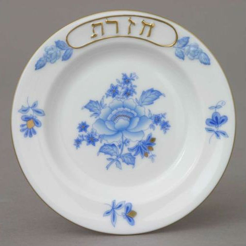Seder Dish with small plates (6) - Rachael Blue