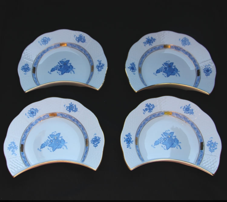 & Herend Chinese Bouquet Bone Dish - Crescent Set for 30% off