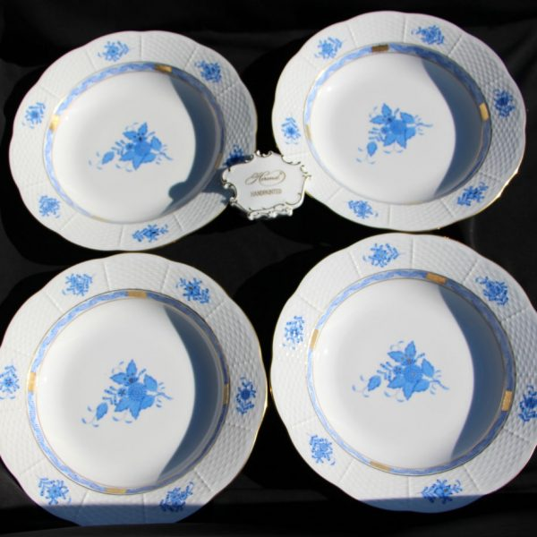 Chinese Bouquet Blue - Soup Plate Set for 4