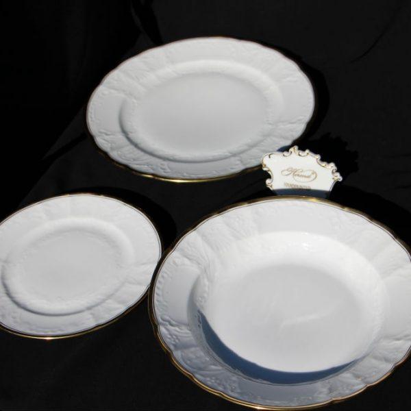 White Hadik - Soup Plate Set of 6