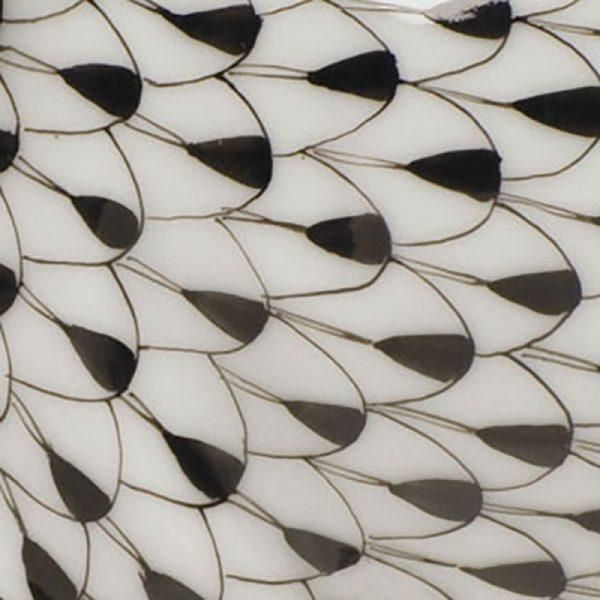 Sugar Bowl (Leaf shaped) - Fishnet Black