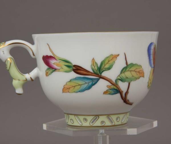 Teacup and Saucer, mandarin handle - GRUE