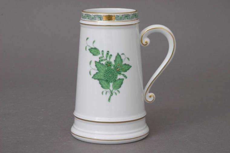 00296-0-00 AV Apponyi Green Chinese Bouquet Beer Mug