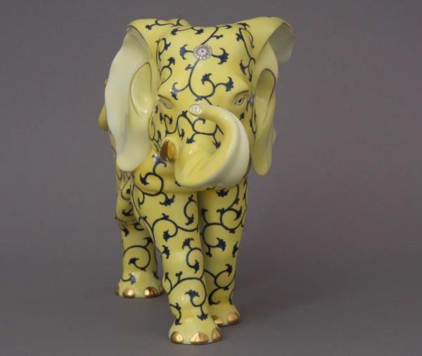 Herend Elephant Yellow Dynasty SJ