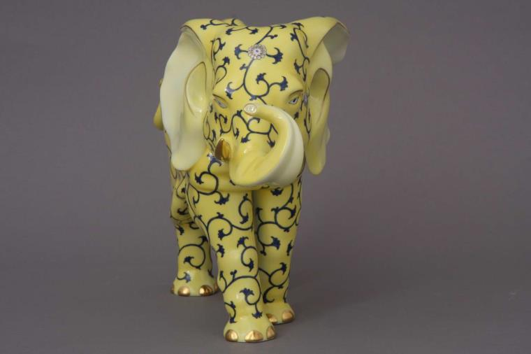 Herend Elephant Yellow Dynasty SJ