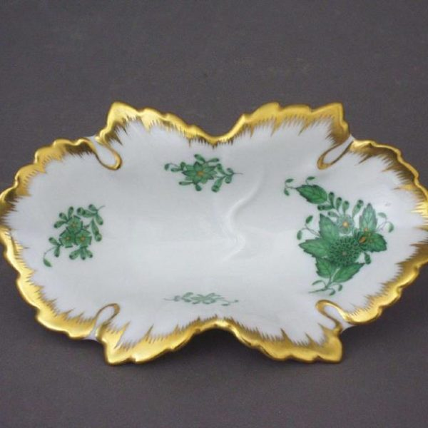 07724-0-00 AV Apponyi Green Small Dish Herend home decor