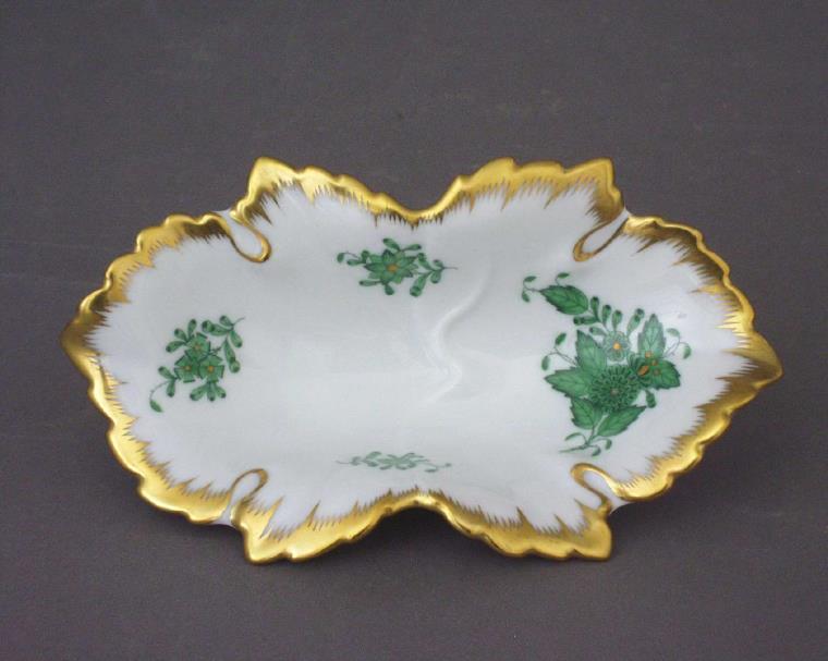 07724-0-00 AV Apponyi Green Small Dish Herend home decor