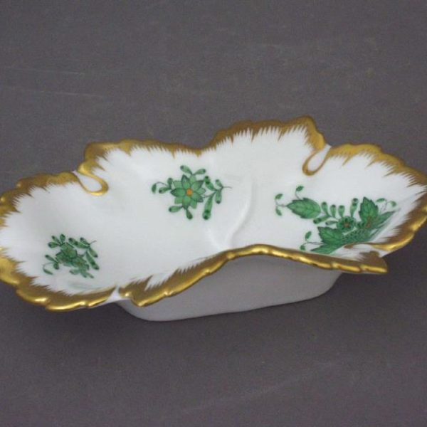 07724-0-00 AV Small Jewellery Tray Chinese Bouquet Green