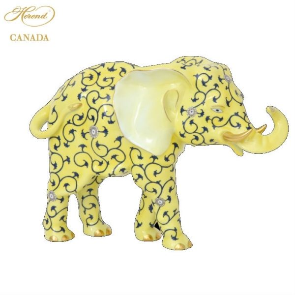 Baby Elephant, large - Yellow Dynasty SJ Handpainted