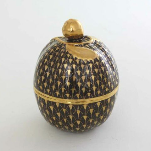 Bonbonniere, Lemon-shaped - Fishnet Black & Gold