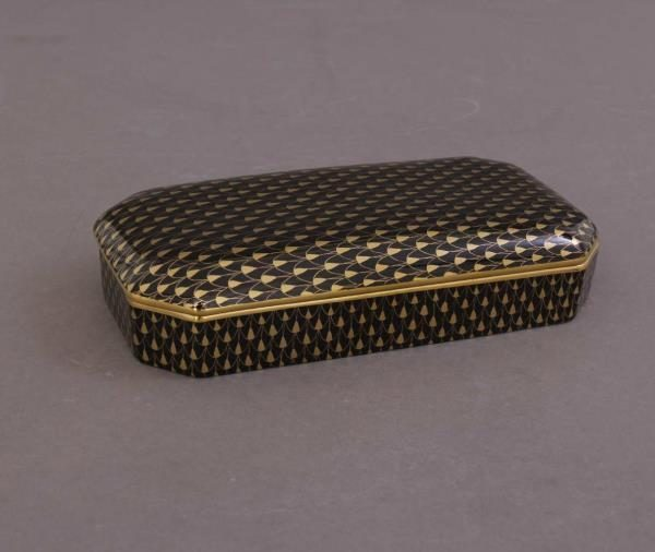 Rectengular Box - Fihsnet Black & Gold