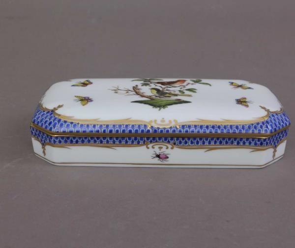 Rectengular Box - Rothschild Bird Blue Fishnet