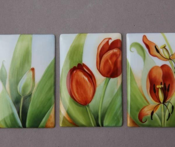 Tulips Triple Tile Picture