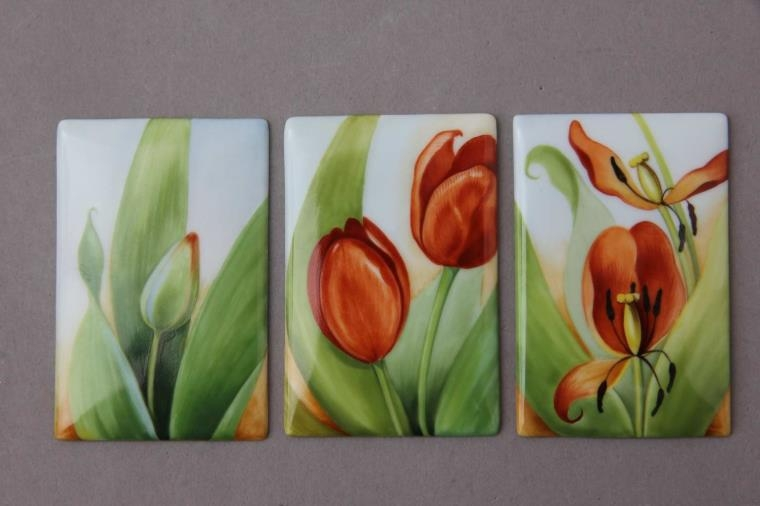 Tulips Triple Tile Picture