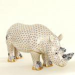 Rhino, large - Black and Grey Fishnet