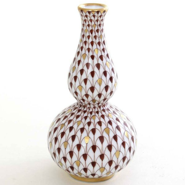 Bottle-shaped vase - Fishnet Red
