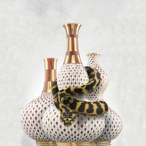Bottle Shape Vase - Fishnet Multi color Special