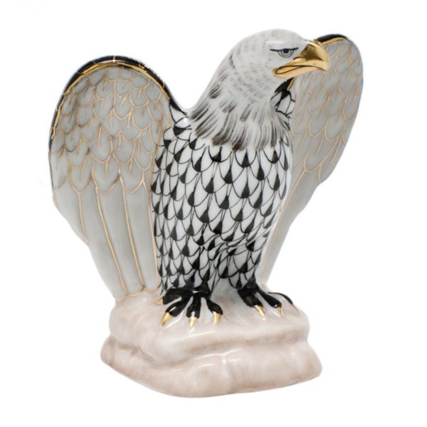 Herend Eagle Figurine - Fishnet Colors