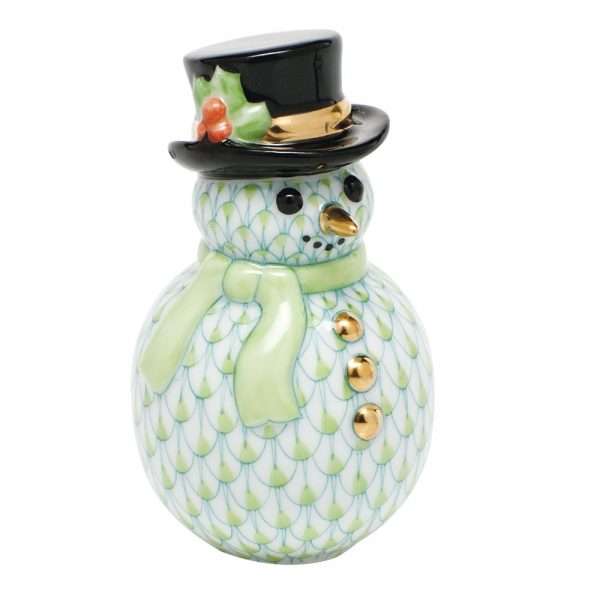 Herend Snowman Figurine - Fishnet Colors