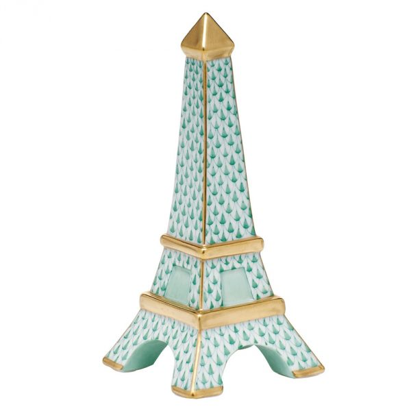 Eiffel Tower Herend Figurine - Fishnet Black