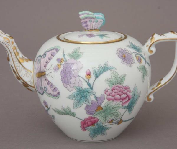Teapot, butterfly knob - Royal Garden2