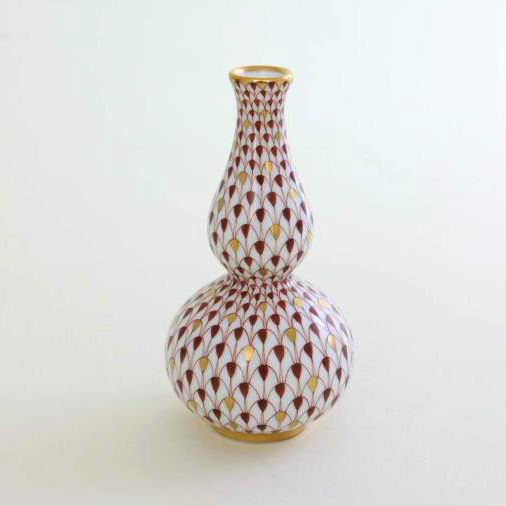 Herend Fishnet Brown Small Vase