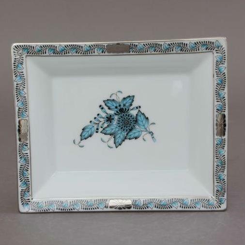 Herend Jewellery Tray, Small - Rothschild Bird