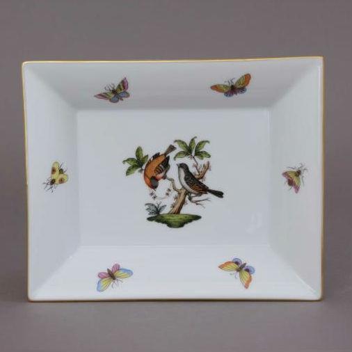Herend Jewelry Plate, Medium - Rothschild Bird