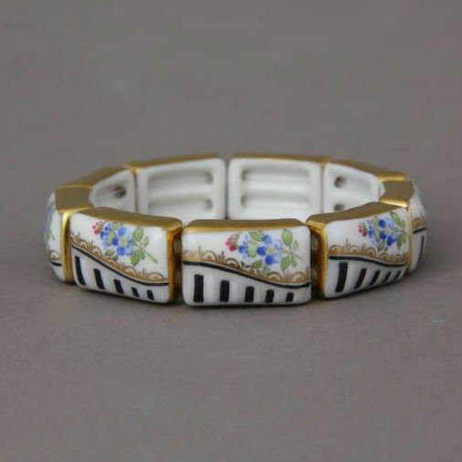Herend Masterpiece Flower Bracelet (9 links)