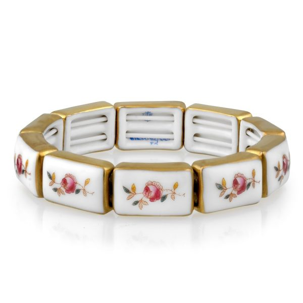 Herend Rose Flowers Bracelet (9 links)