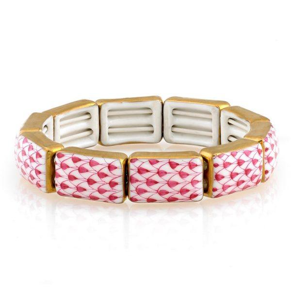 herend-fishnet-pink-bracelet-9-links