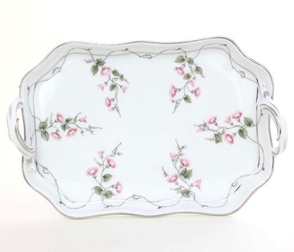 Handled Tray - Fishnet Platinum Pink