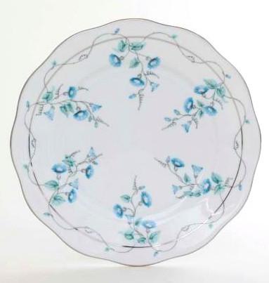 Salad Plate - Morning Glory Platinum Colors