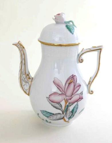 Coffee Pot, rose knob - Rothschild Bird