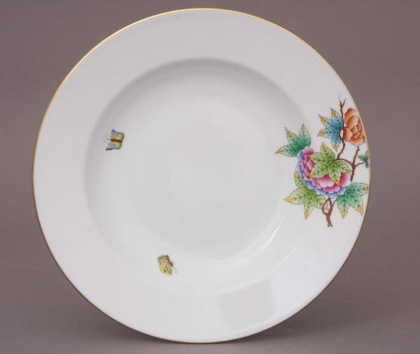 Herend Medium Rim Soup Plate - Petite Victoria