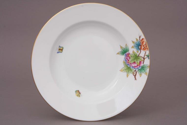 Herend Medium Rim Soup Plate - Petite Victoria