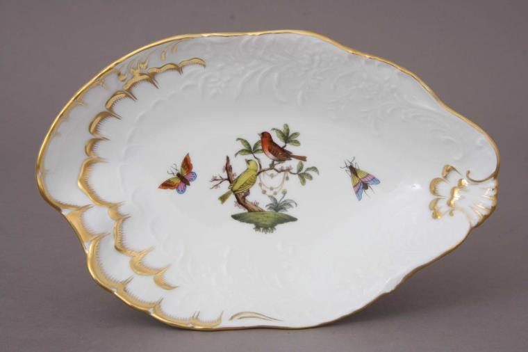 Baroque Leaf Dish - Rothschild Bird