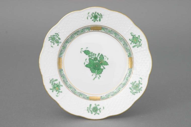 Herend Bread and Butter Plate Chinese Bouquet Green