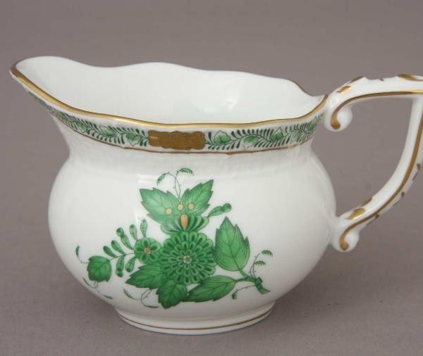 Creamer - Chinese Bouquet Green