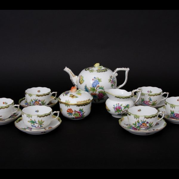 1Herend Tea Set for 6 - Queen Victoria
