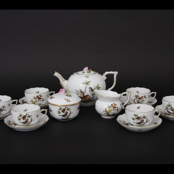 Herend Rothschild Bird - Tea Set for 6