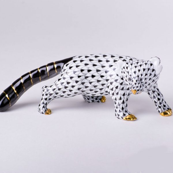 Herend Fishnet Black Bear - Herend Animals