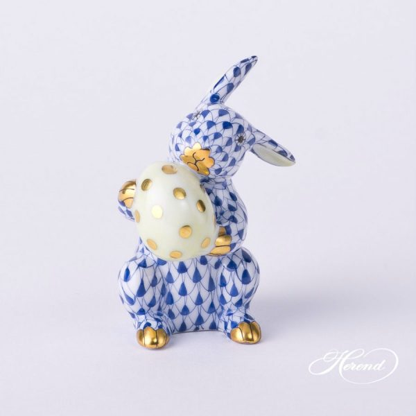 Herend Easter Bunny Figurine - Fishnet Colors
