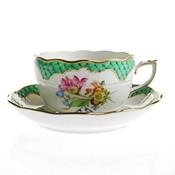 Teacup and Saucer - TF Herend Porcelain